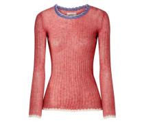 Woman Aggy Ribbed Cotton Sweater Red