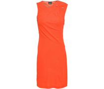 Wrap-effect Jersey Mini Dress Bright Orange