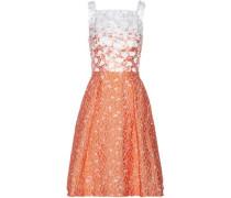 Embellished jacquard fil coupé dress