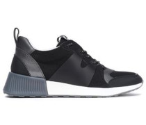 Paneled Mesh And Rubber Sneakers Black