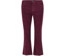The Kick Jean cropped cotton-blend corduroy bootcut pants