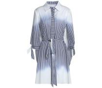 Cutout dégradé cotton-blend poplin shirt dress