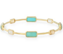 Gold-tone multi-stone bangle