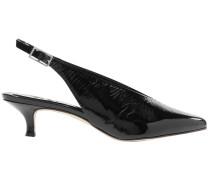 Woman Lia Patent-leather Slingback Pumps Black