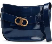 Patent-leather shoulder bag