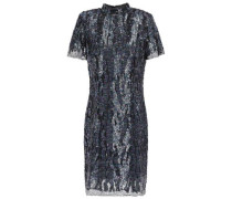Syd Sequined Mesh Mini Dress Purple Size 0