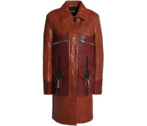 Leather Coat Brown
