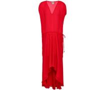 Asymmetric silk crepe de chine dress