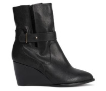 Pebbled-leather Ankle Boots Black