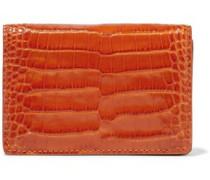 Mara Croc-effect Leather Cardholder Tan Size --