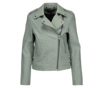 Harley paneled smooth and textured-leather biker jacket