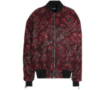Brocade bomber jacket