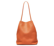 Pebbled-leather Tote Tan Size --