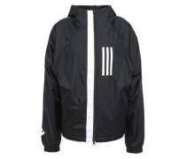 Printed Shell Hooded Jacket Black