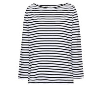 Striped Cotton-jersey Top White