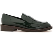 Glossed-leather Loafers Dark Green
