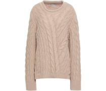 Pitala Oversized Cable-knit Sweater Sand