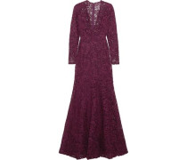 Silk-blend lace gown