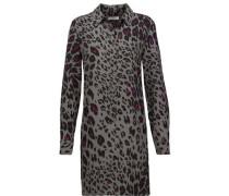 Lucida leopard-print washed-silk mini dress