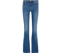 Charlize distressed mid-rise bootcut jeans