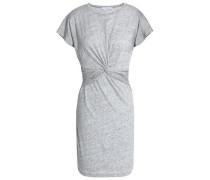 Twist-front cotton and modal-blend jersey mini dress