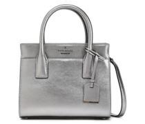 Metallic Textured-leather Shoulder Bag Silver Size --