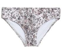 Zz Snake-print Low-rise Bikini Briefs White