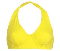 Halterneck Bikini Top Bright Yellow