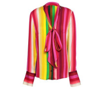 Nia Pussy-bow Striped Cady Shirt Multicolor