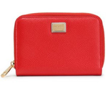 Leather Wallet Red Size --