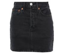 Denim Mini Skirt Black  4