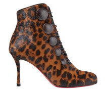 Woman Booton 85 Leather-trimmed Leopard-print Calf Hair Ankle Boots Animal Print