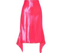 Darby Asymmetric Neon Satin Skirt