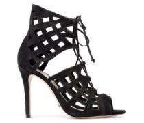 Blake lace-up laser-cut suede sandals