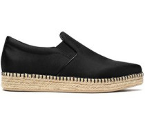 Textured satin espadrille sneakers