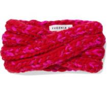 Lula Marled Metallic Wool-blend Headband Red Size --