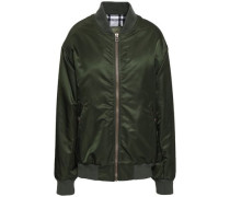 Shell Bomber Jacket Dark Green