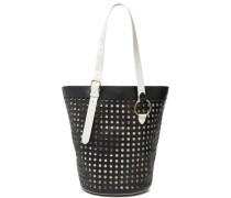 Origami Perforated Leather Tote Black Size --