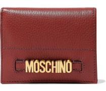 Embellished Textured-leather Wallet Brick Size --