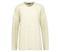 Katriona cable-knit wool and cashmere-blend sweater