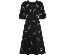 Esmerelda Embellished Silk Duchesse-satin Dress Black Size 12