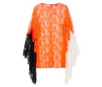 Color-block Lace Top Bright Orange