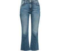 Distressed Mid-rise Kick-flare Jeans Mid Denim