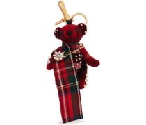 Embellished Cashmere Keychain Claret Size --