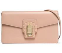 Lucia Leather Shoulder Bag Sand Size --