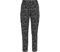 Printed cotton tapered pants