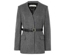 Jacinta Belted Wool Blazer Gray