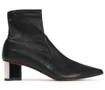 Serena Leather Sock Boots Black