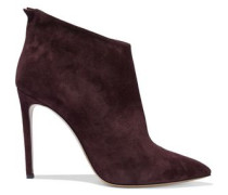Suede Ankle Boots Grape