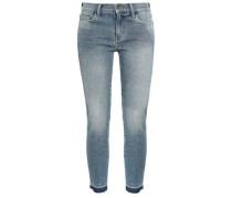 Faded Mid-rise Skinny Jeans Light Denim  4